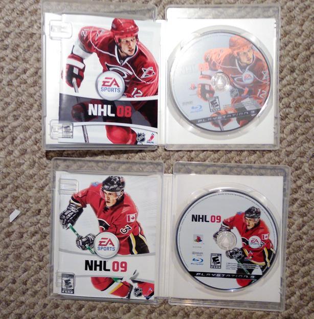 PlayStation 3 Games - NHL 08 + NHL 09