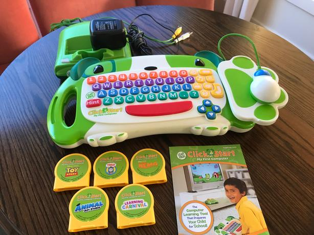 Leap Frog - Click Start; My First Computer + 4 Games!