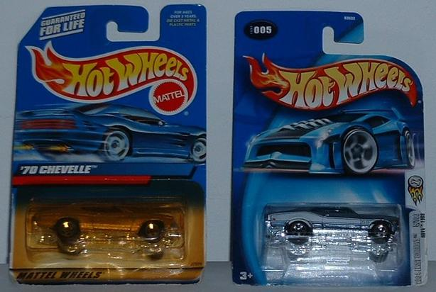 Two Hot Wheels First Editions 1970 Chevelle 1968 Nova SS