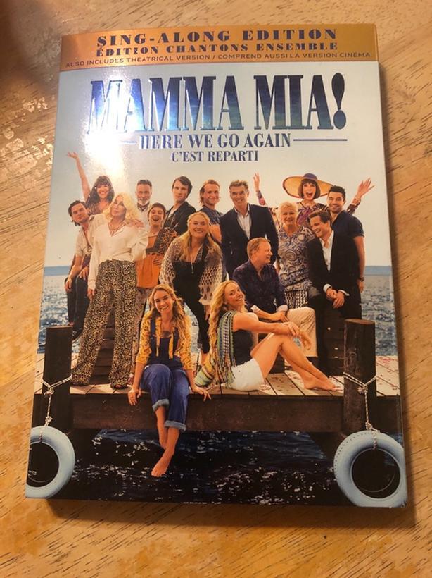 Mamma Mia Here we go again DVD new