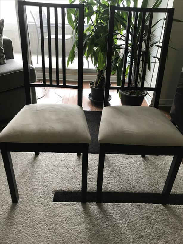 For Sale: 2 Dining Chairs (Brown & Beige color)