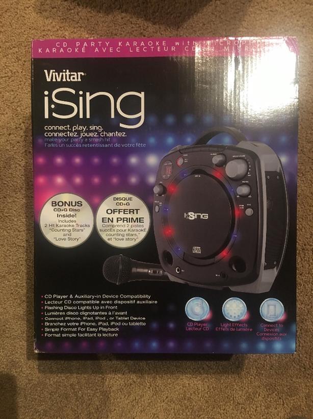 Vivitar ISing Portable Karokee - New in Box!