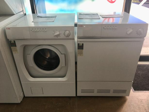 "Refurbished Asko 24"" Washer and Dryer Set"