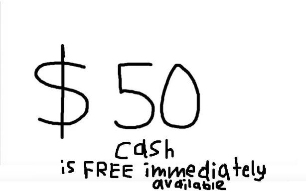 $50 cash immediately is FREE orange key 43209250S1 Tangerine bank money