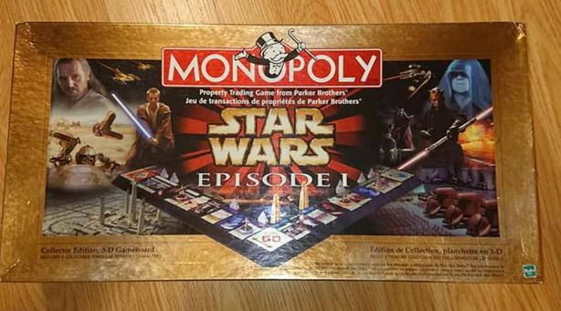 Star Wars Episode 1 Monopoly: Collectors 3D edition