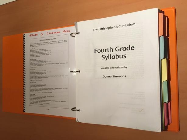 Christopherus Curriculum 4th grade