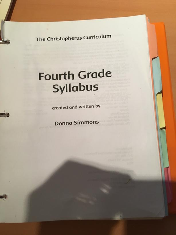 Christoperus Curriculum 4th Grade