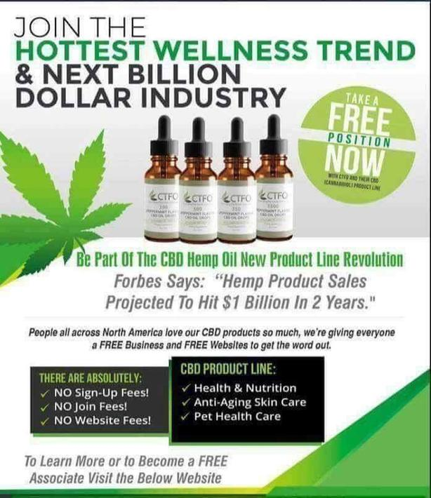 HEMP CBD SALES - FREE WORK FROM HOME BUSINESS OPPORTUNITY