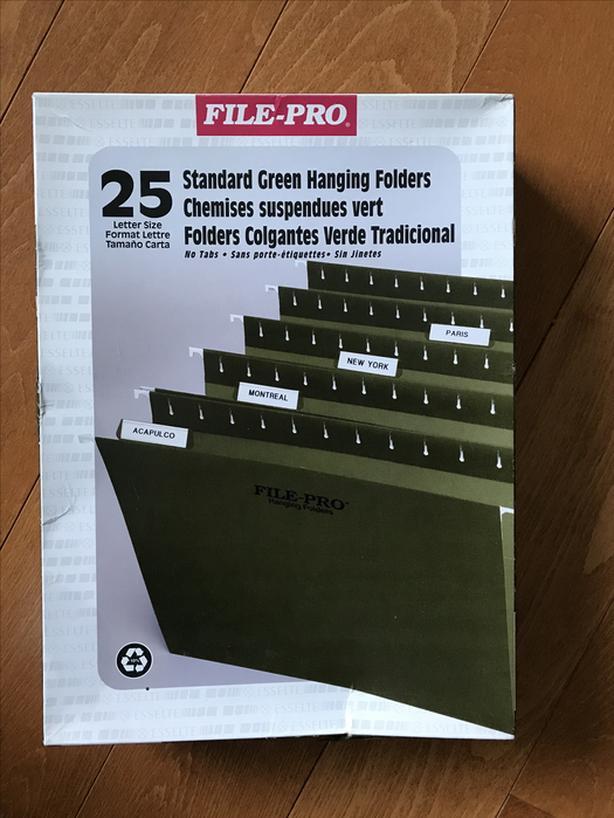 25 green hanging file folders