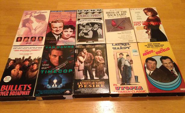 FREE: vhs tapes, candy dish, and children's dictionary