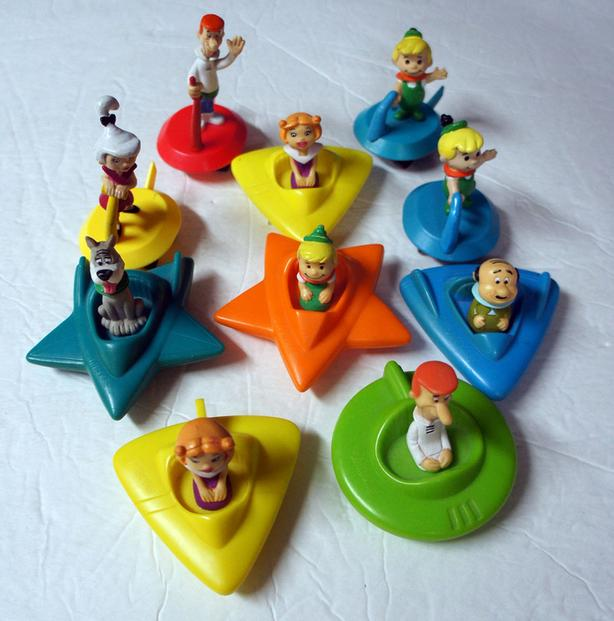 The Jetsons Wendy's Kids Meal Toy Set Hanna Barbera 1989