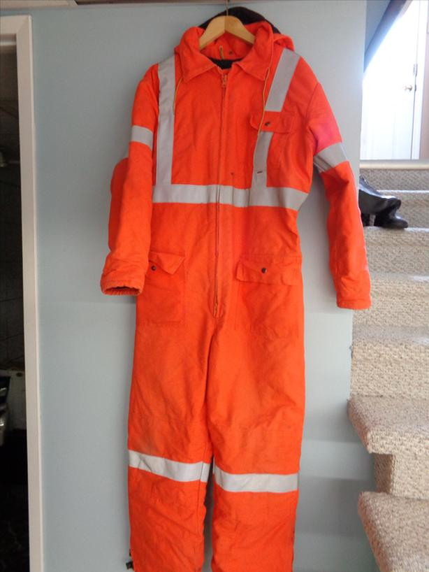 Winter insulated coveralls