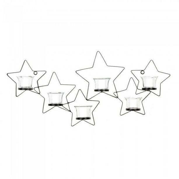 Clear Star Candleholder Lantern Hanging Tabletop w/Stand & Sconce 3 Styles + 4PC