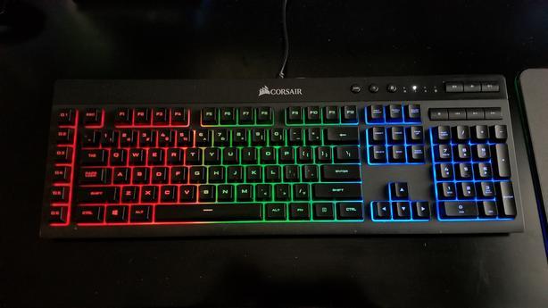  Log In needed $50 · Corsair K55 RBG Membrane Keyboard