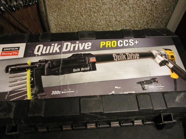 Simspon Strong-tie / Dewalt Quick Drive Pro CCS + D25K Screw