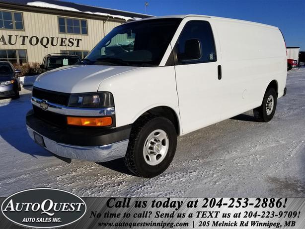 2013 Chevrolet Express 2500 Cargo Van - 4.8L RWD, Backup Cam, Interior Shelving!