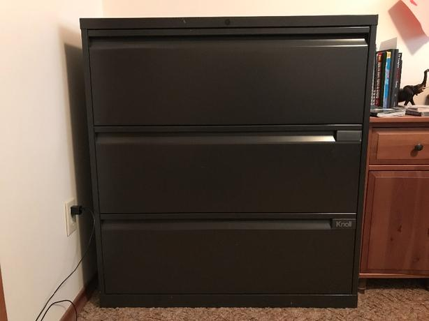FREE: Knoll 3 drawer lateral filing cabinet