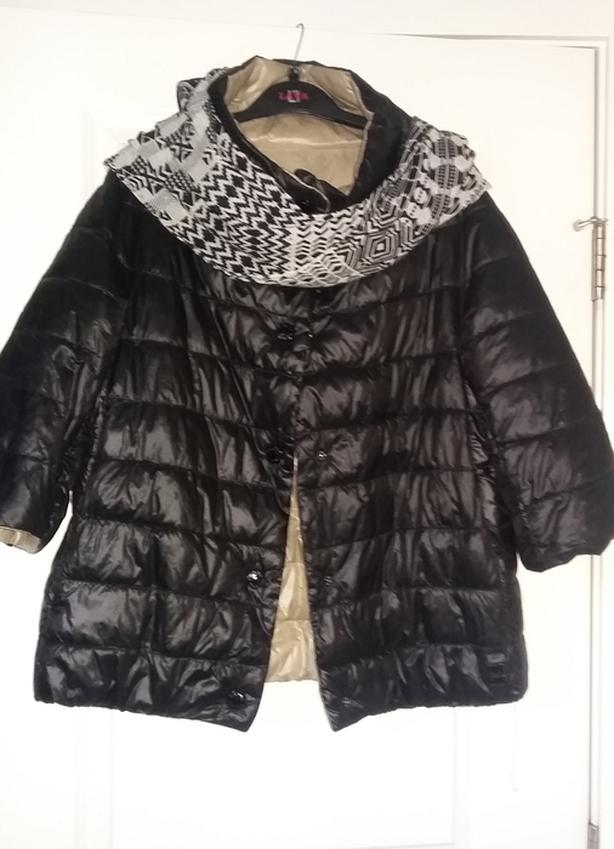 Feather Light Button-Down Winter Jacket size L, reversible