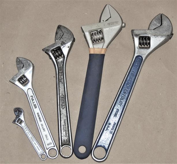 Assorted Adjustable Crescent Wrenches