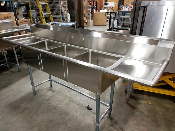 NEW CSA Commercial Stainless Steel Sinks- Showroom Auction