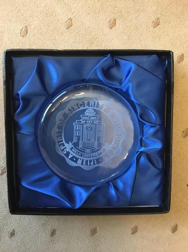 Meiji University Paperweight