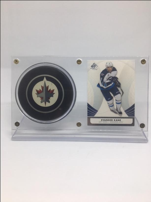 2013 Upper Deck SP Edition Evander Kane Winnipeg Jets #2/Official NHL Puck
