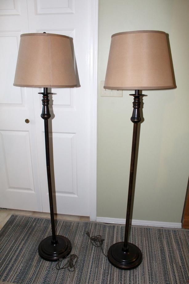 Pair of matching floor lamps
