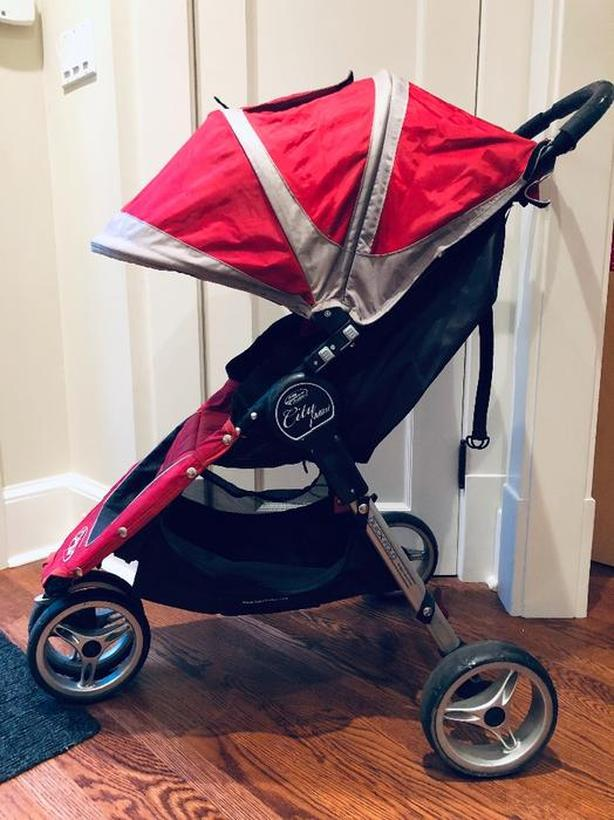 Log In Needed 100 Baby Jogger City Mini Stroller Used Red Gray Car Seat Adapter