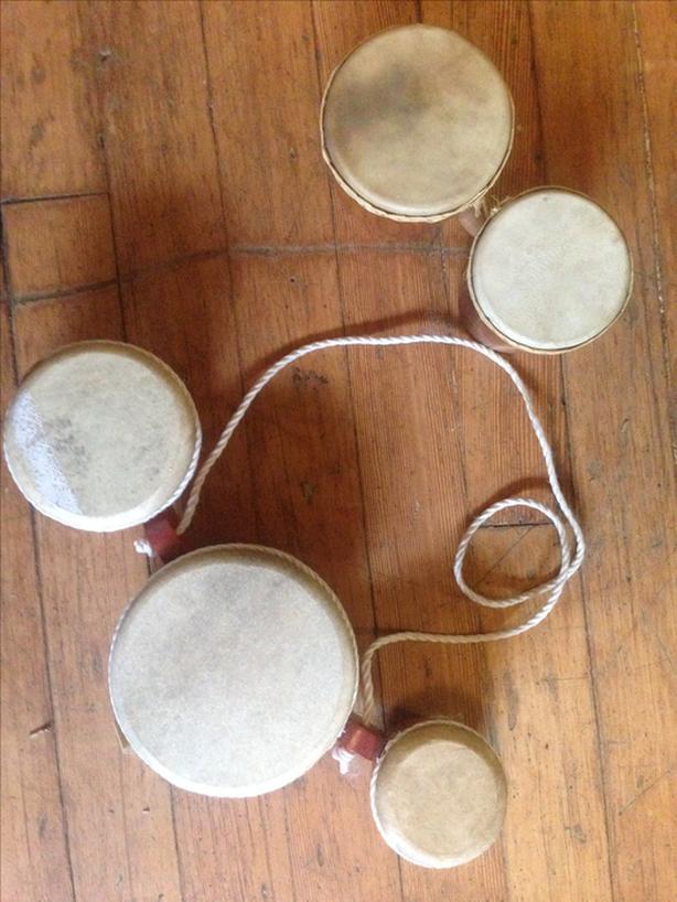 2 Bongo Drum Sets