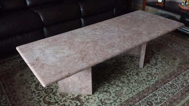 Pink Marble Coffee Table Parksville Nanaimo Mobile