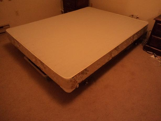 FREE: Queen size frame and box spring.