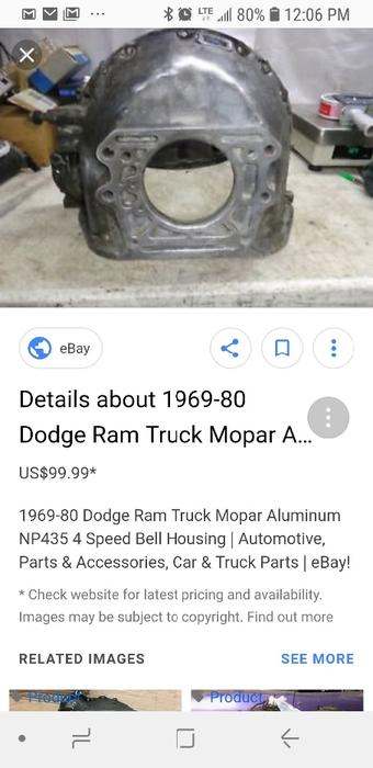 $100 · WANTED: WANTED: 318 bell housing Dodge chrysler