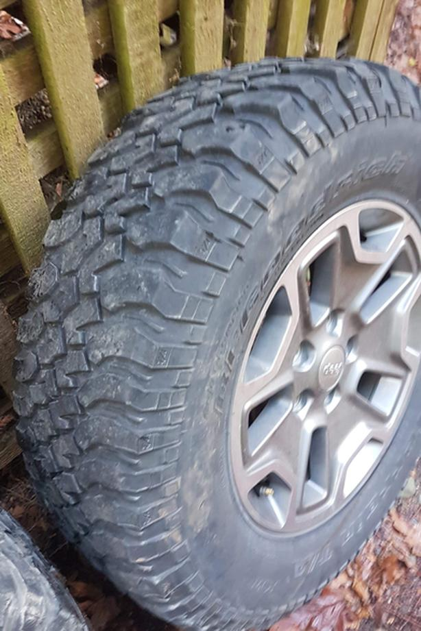 Jeep JK Wheels with BF Goodrich MT Tires