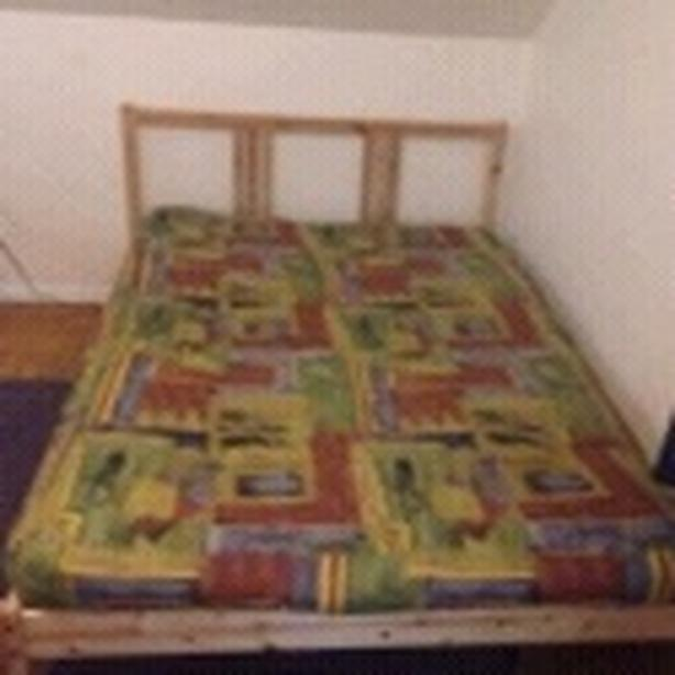 IKEA  Pine Double Bed & Futon Mattress (will sell separately)