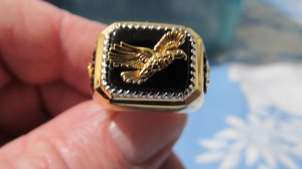 24 K GOLD PLATED EAGLE RING