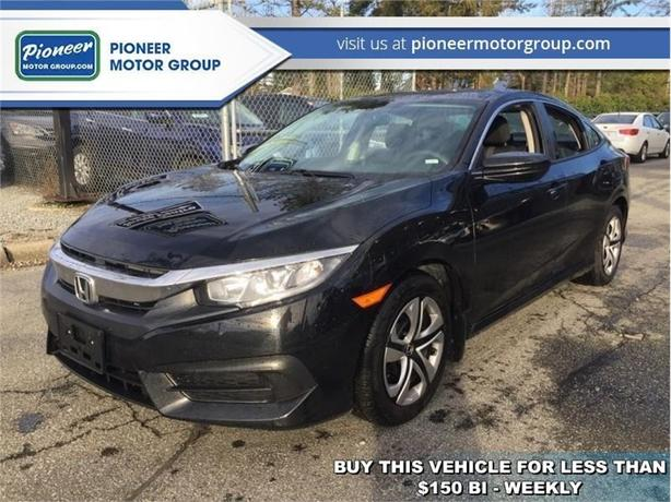 2018 Honda Civic Sedan LX CVT  - Bluetooth -  Premium Audio - $148.19 B/W