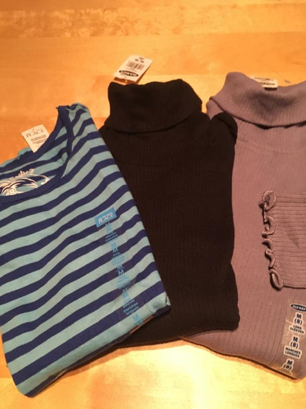 NWT - size 7/8  Children's Place, Old Navy l/s shirts