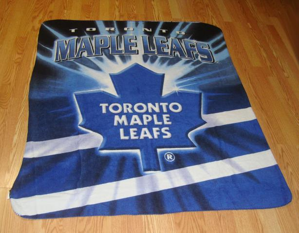Like New Maple Leafs Hockey Fleece Blanket - $24