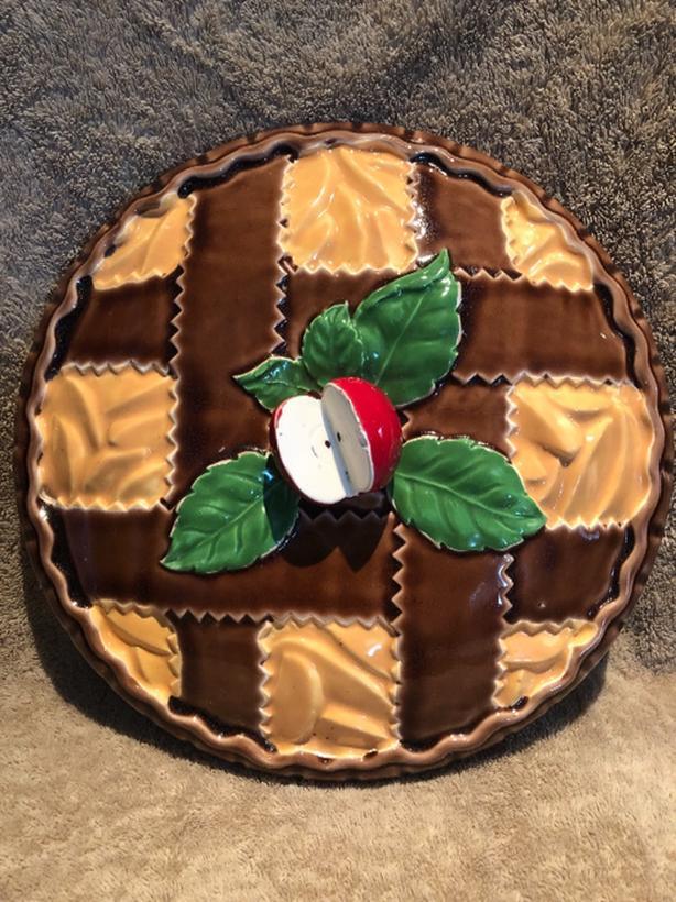Vintage Ceramic Apple Pie Dish