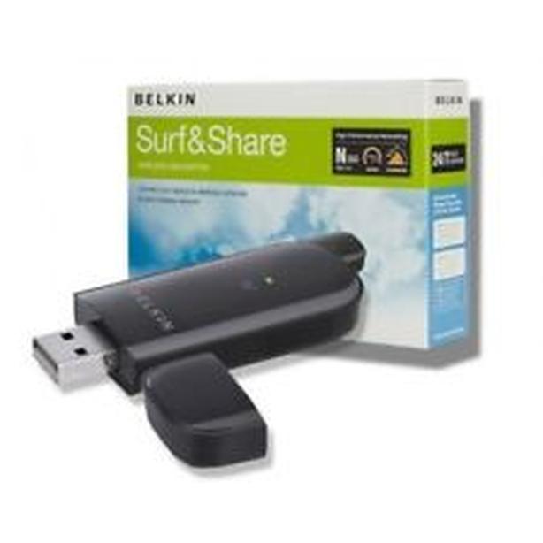 Belkin Surf & Share 300Mbps Wireless WIFI USB Adapter