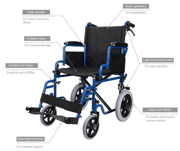 Foldable Lightweight Wheelchair (transport)
