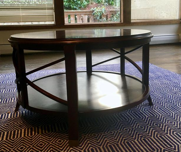 Round Bombay Company Coffee Table Oak Bay Victoria Mobile