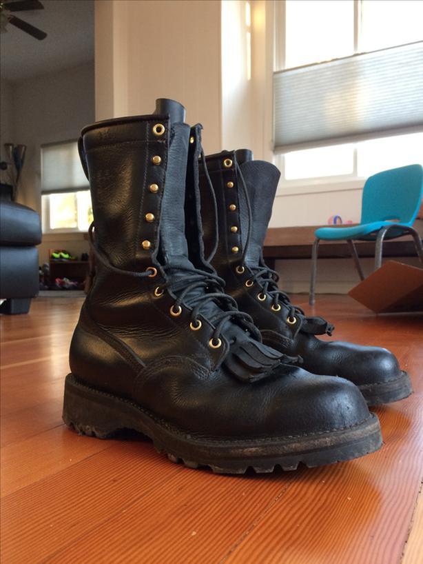 Viberg 10'' Black Buffalo Hunter Boots 9.5 D