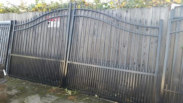 Furniture and concrete statues and gates