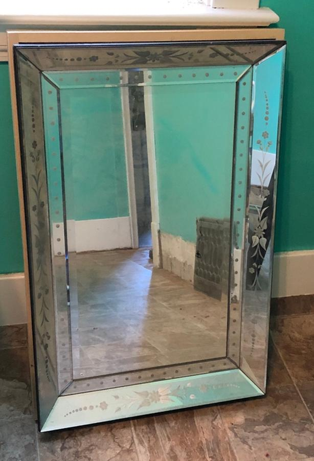 2 vintage mirrors