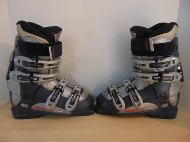 Ski Boots Mondo Size 24.0 Men's Size 6 Ladies size 7 280 mm Nordica Grey Blue
