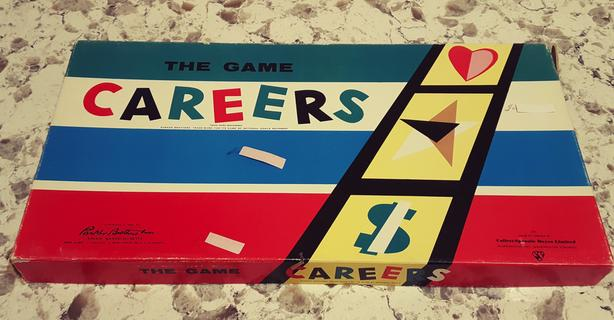 CAREERS - PARKER BROS BOARD GAME - 1960s