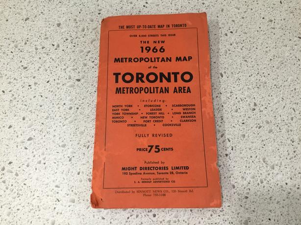 Toronto Street Map from 1966 (On hold)