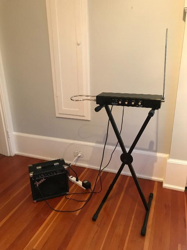 Moog Theremin with stand and Fender amp!