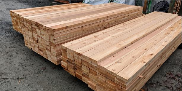 CEDAR 2x6 S4SEE DECKING TIGHT KNOT